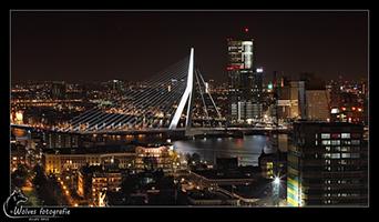 Erasmusbrug - Rotterdam - Nachtfotografie - Door: Ellen Reus - Wolves fotografie