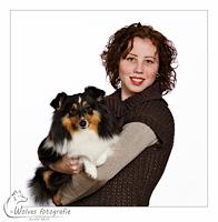 Sammy en Sheltie Bellanny - mens- en dierfotografie - portretfotografie - Door: Ellen Reus - Wolves fotografie