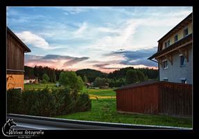 Uitzicht badkamerraam in Schönanger - Landschapsfotografie - Door: Ellen Reus - Wolves fotografie