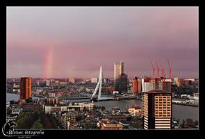 Uitzicht met regenboog - Rotterdam - (Stad-) Landschapsfotografie - door: Ellen Reus - Wolves fotografie