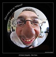 Willem - Fisheye foto - portretfotografie - Creatieve fotografie - Door: Ellen Reus - Wolves fotografie