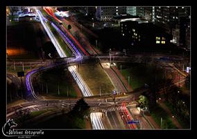 Zwaailicht bij nacht - Rotterdam - Nachtfotografie - Door: Ellen Reus - Wolves fotografie
